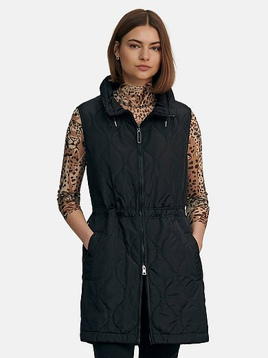 Marc Cain - Long quilted waistcoat with drawstring waist