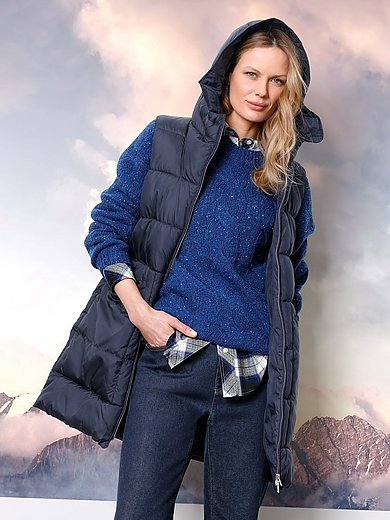 DAY.LIKE - Long quilted gilet with hood