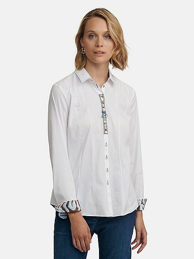 JUST WHITE Country Love - Le chemisier avec col chemise