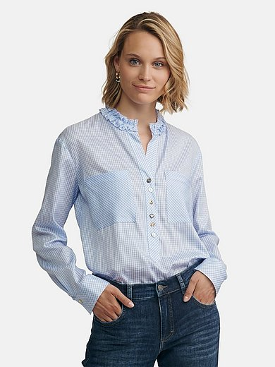 JUST WHITE Country Love - Blouse with stand-up collar