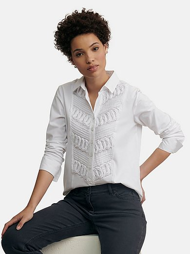 JUST WHITE Country Love - Blouse with shirt collar