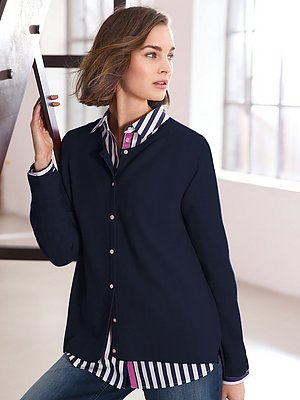 Vest van 100% scheerwol Van Looxent blauw