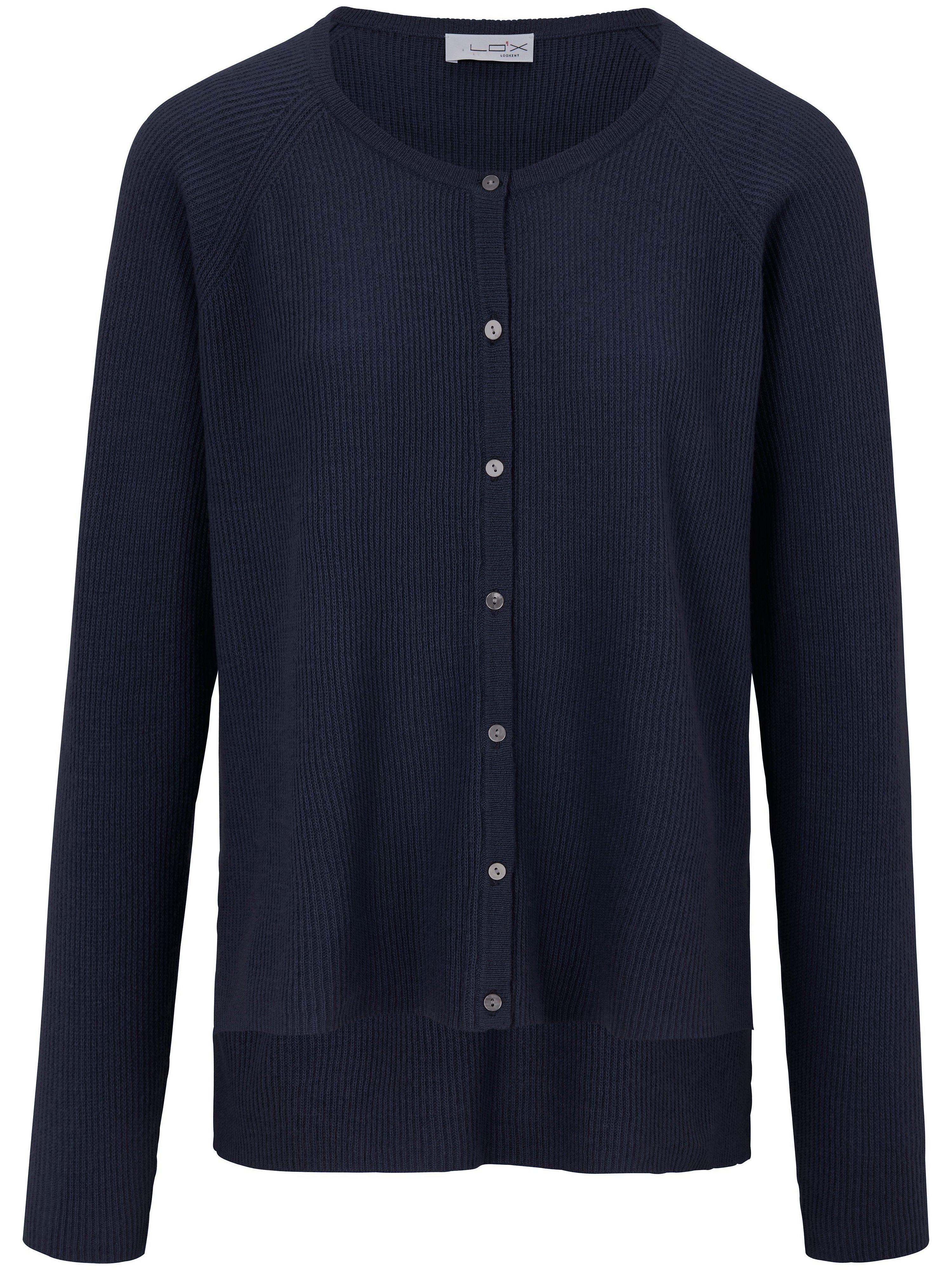 Vest 100% scheerwol Van Looxent blauw