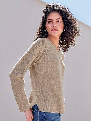 Vest van 100% scheerwol Van Looxent beige