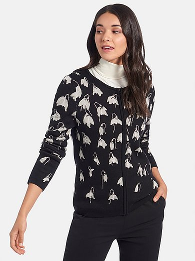 mayfair by Peter Hahn - Cardigan in snowdrop jacquard