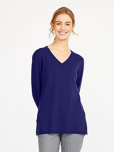 include - V-neck jumper in 100% cashmere