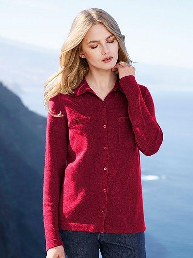 Peter Hahn Cashmere - Polo-collar cardigan in Pure cashmere in premium q