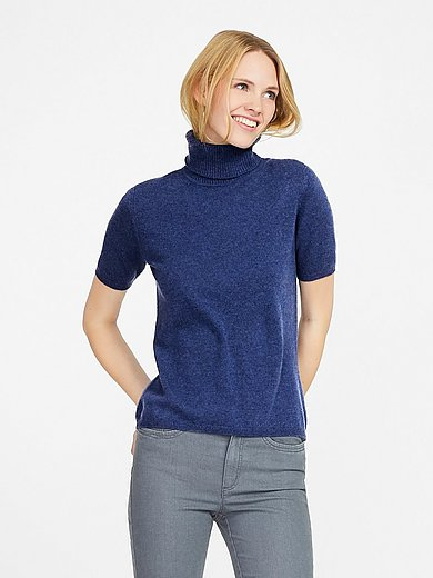 Peter Hahn Cashmere - Roll-neck jumper in Pure cashmere in premium quali