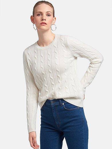 Peter Hahn Cashmere - Rundhalsad tröja med lång ärm i 100% kashmir