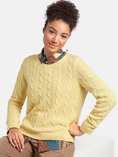 Peter Hahn Cashmere - Round neck jumper with long sleeves