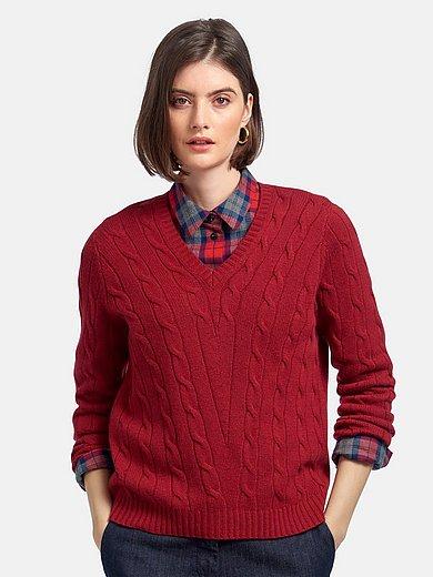 Peter Hahn Cashmere - V-ringad tröja med lång ärm i 100% kashmir