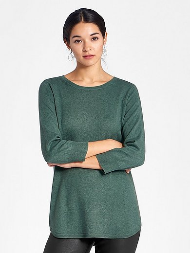 Peter Hahn - Rundhalsad tröja med 3/4- lång ärm