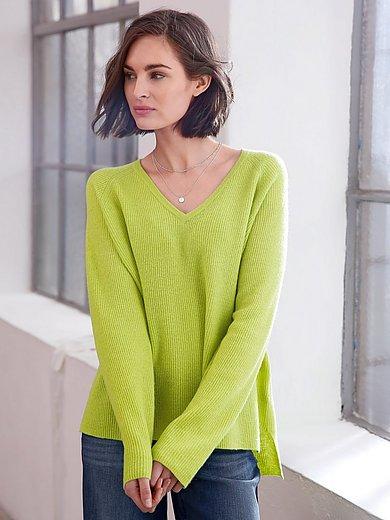 Looxent - V-Pullover aus 100% Schurwolle