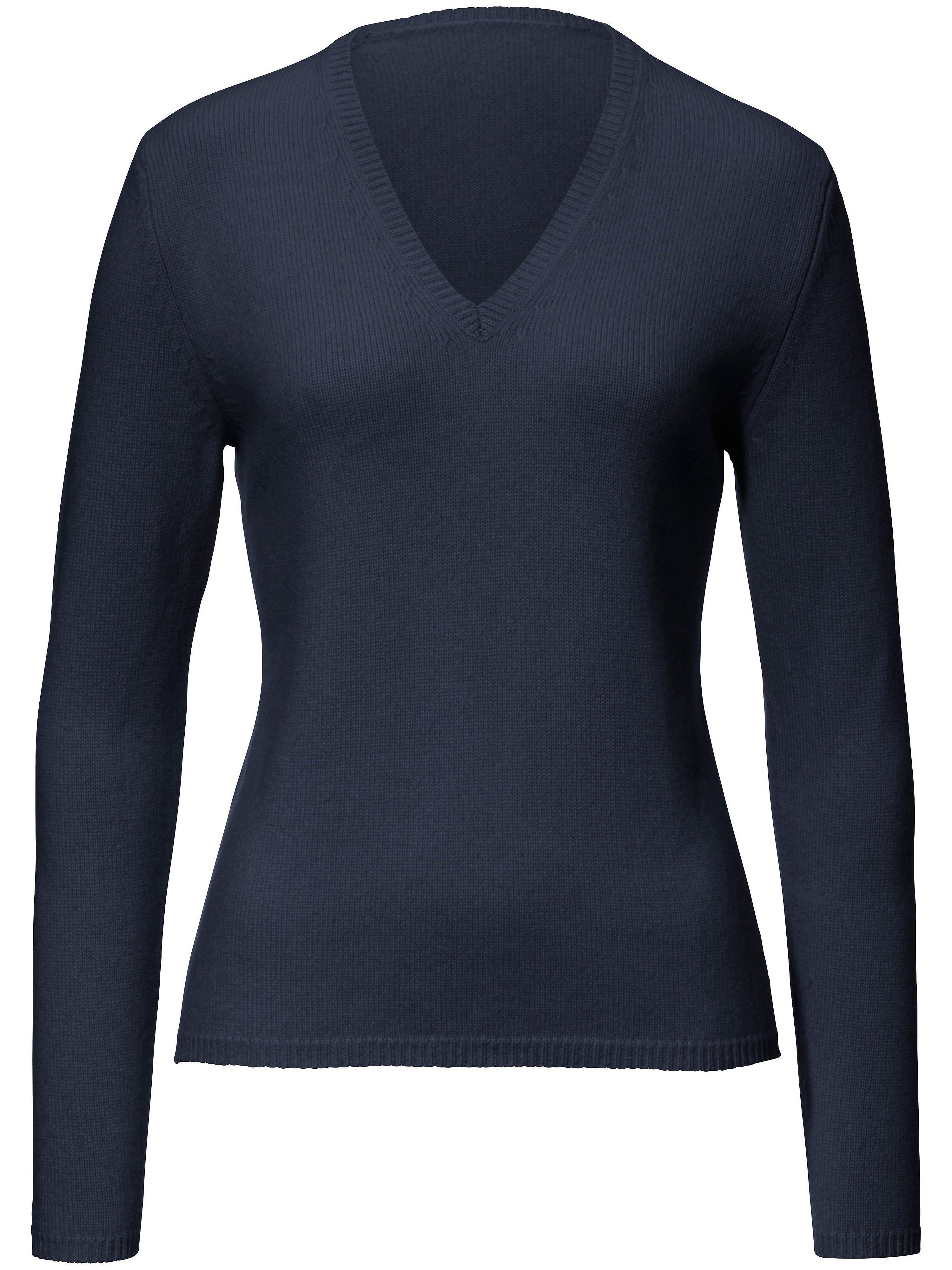 V-Pullover aus 100% Premium-Kaschmir Peter Hahn Cashmere blau | Bekleidung > Pullover > V-Pullover | Peter Hahn Cashmere