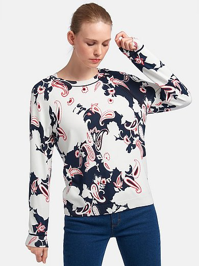 Peter Hahn - Round neck jumper with long sleeves