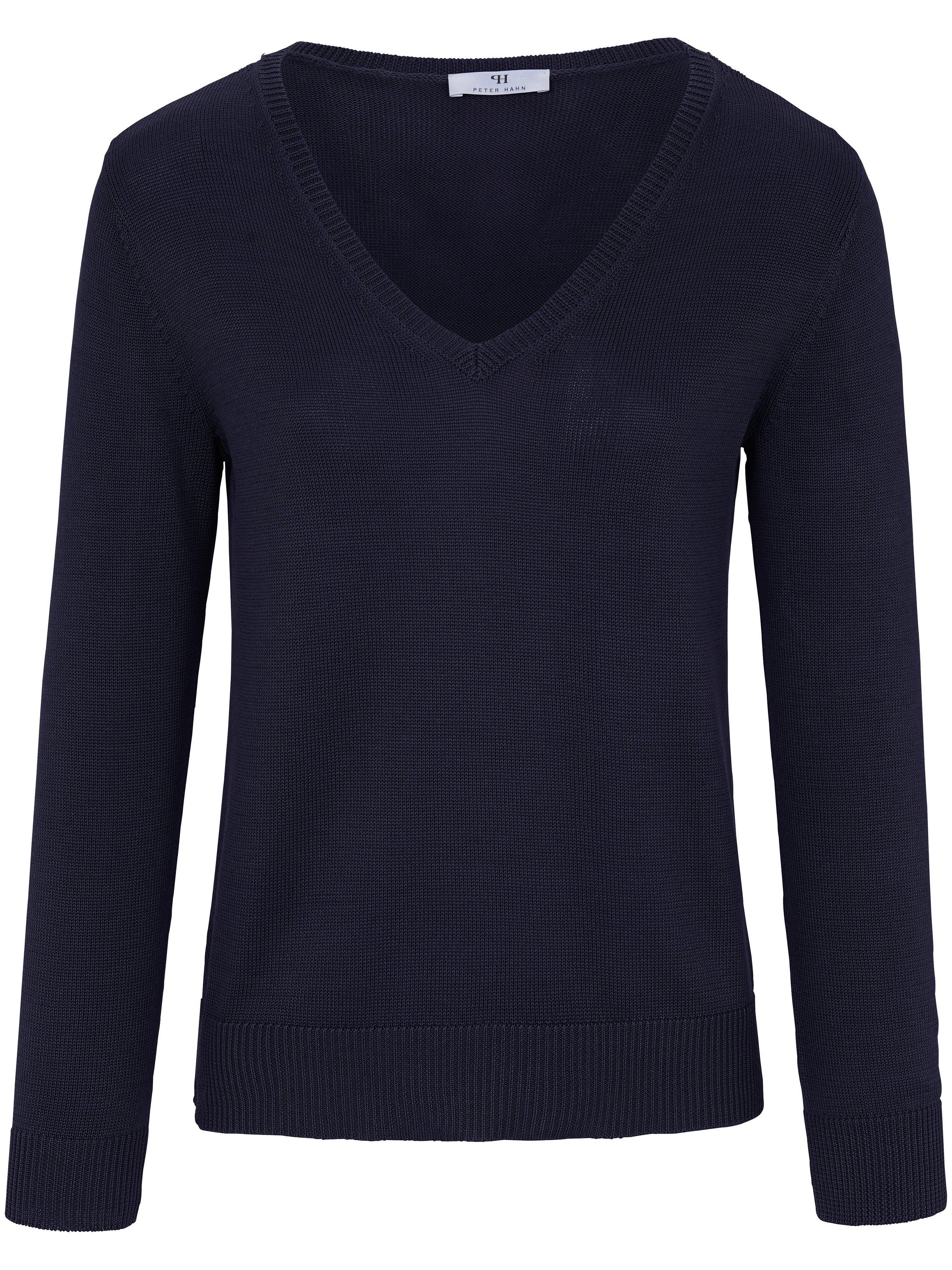 V-Pullover aus 100% SUPIMA®--Baumwolle Peter Hahn blau | Bekleidung > Pullover > V-Pullover | Peter Hahn