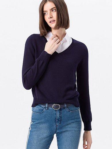 Peter Hahn - V-neck jumper in 100% SUPIMA® cotton