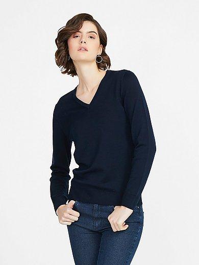Peter Hahn - V-neck jumper in 100% new milled wool design Inge