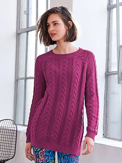 Looxent - Round neck jumper with raglan sleeves