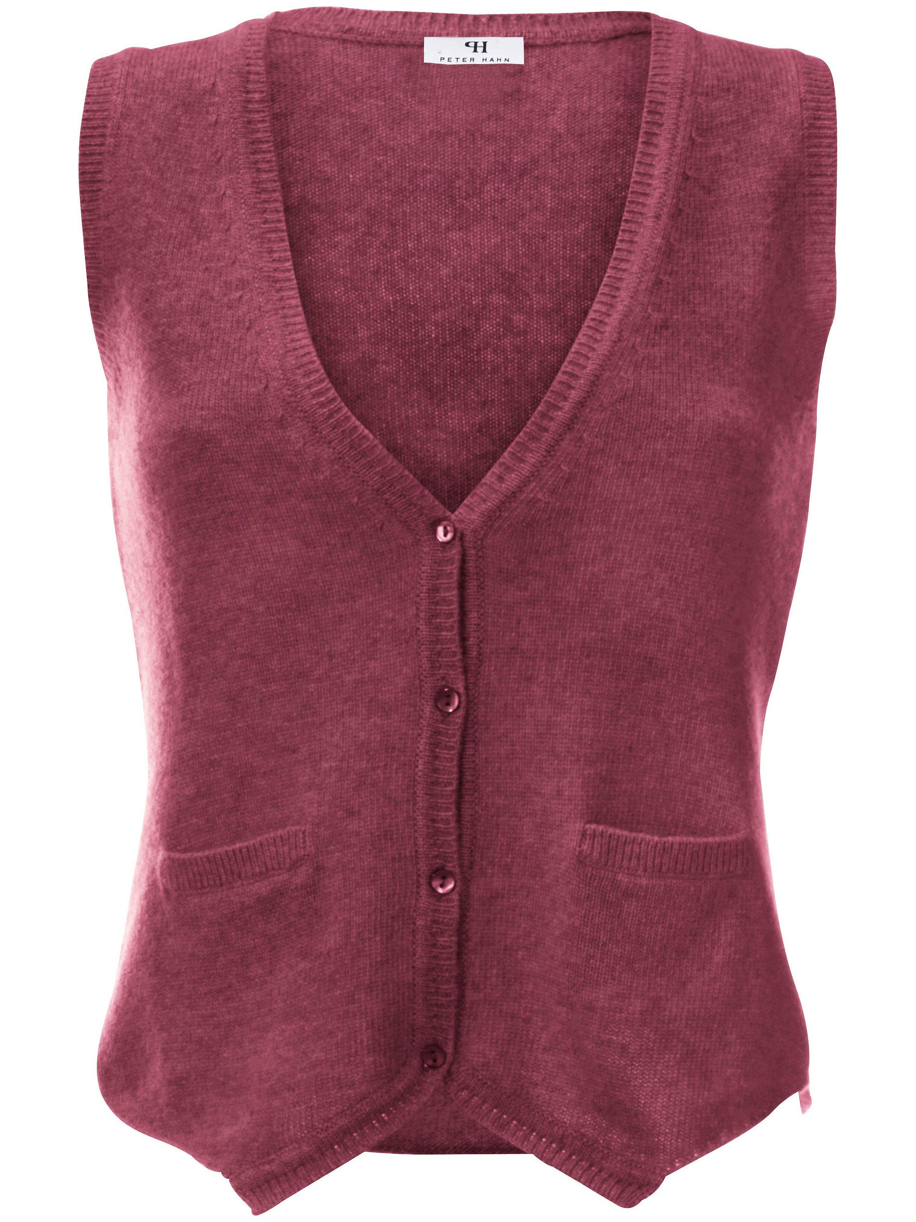 Vest van 100% scheerwol Van Peter Hahn lichtroze