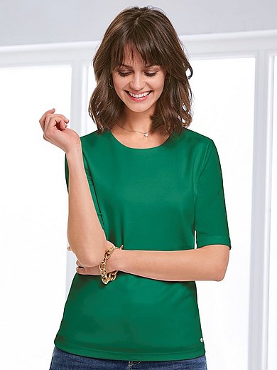 Efixelle - Round neck top with long 1/2-length sleeves