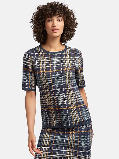 mayfair by Peter Hahn - Round neck jumper with short sleeves
