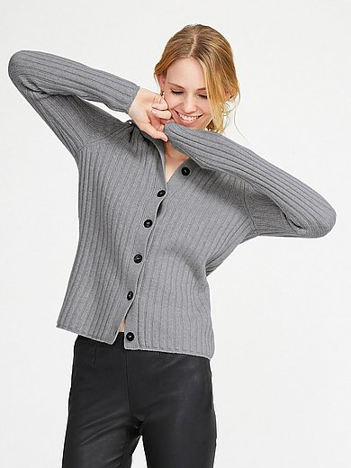 include - Cardigan in new milled wool and cashmere