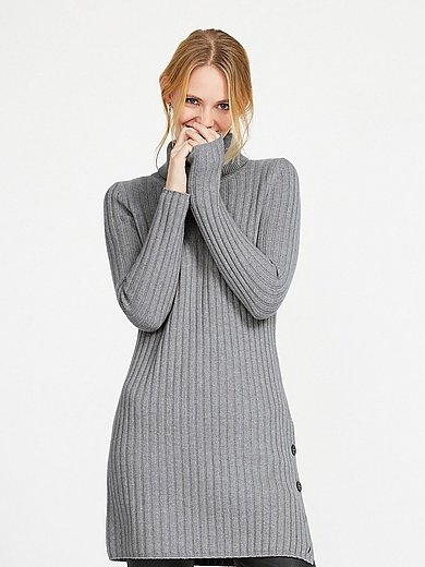 include - Roll-neck jumper in new milled wool and cashmere