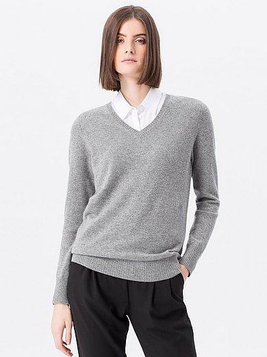 Peter Hahn Cashmere - V-Pullover aus 100% PREMIUM Kaschmir