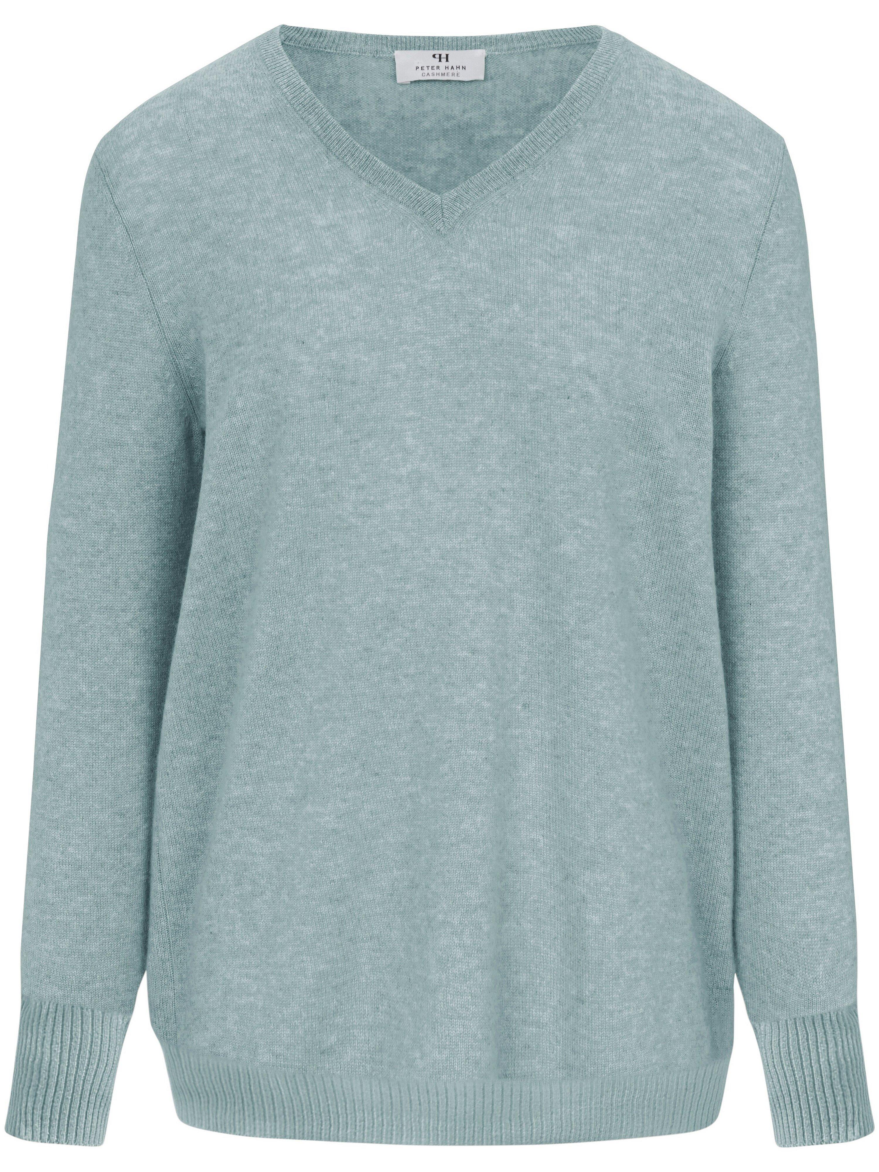 V-Pullover aus 100% PREMIUM Kaschmir Peter Hahn Cashmere grün | Bekleidung > Pullover > V-Pullover | Peter Hahn Cashmere