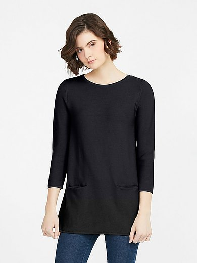 Peter Hahn - Round neck jumper in 100% Supima ® cotton
