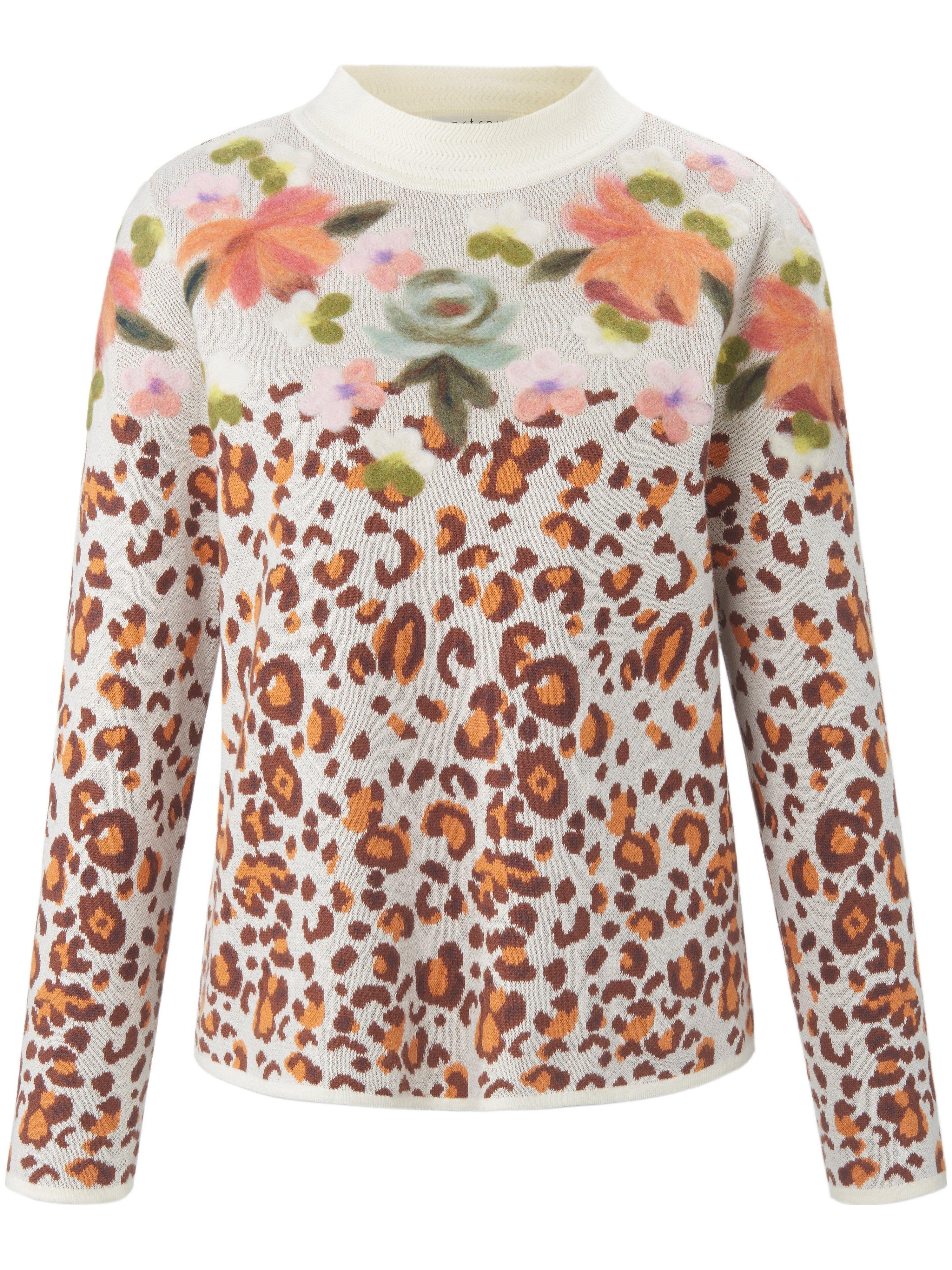 Round neck jumper in 100% cotton portray berlin white
