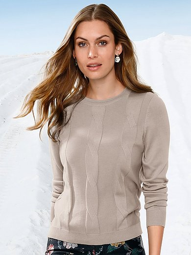 mayfair by Peter Hahn - Round neck jumper in cotton and silk