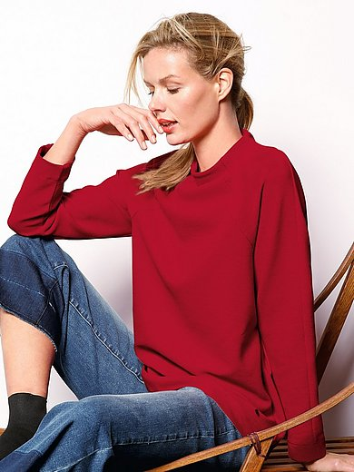 DAY.LIKE - Jumper with raglan sleeves and stand-up collar