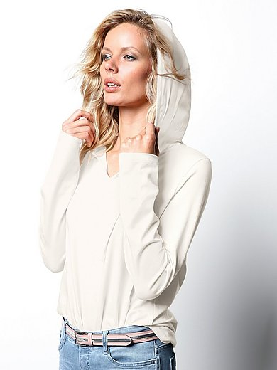 DAY.LIKE - Hoodie top in 100% silk