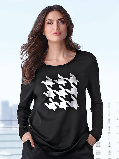 Emilia Lay - Top with houndstooth motif