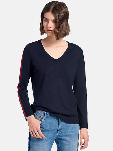 Looxent - V-neck jumper with long sleeves