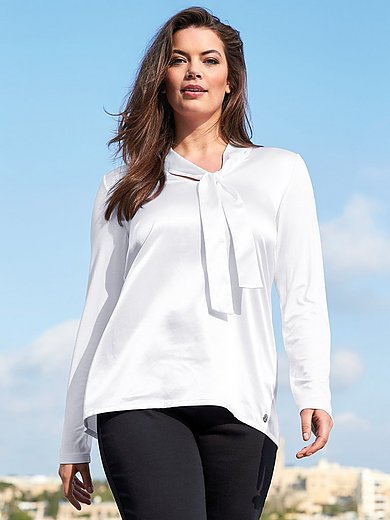 Anna Aura - V-neck blouse with tie band