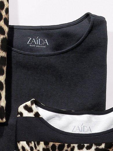 ZAIDA - Shirt mit leichtem U-Boot-Ausschnitt