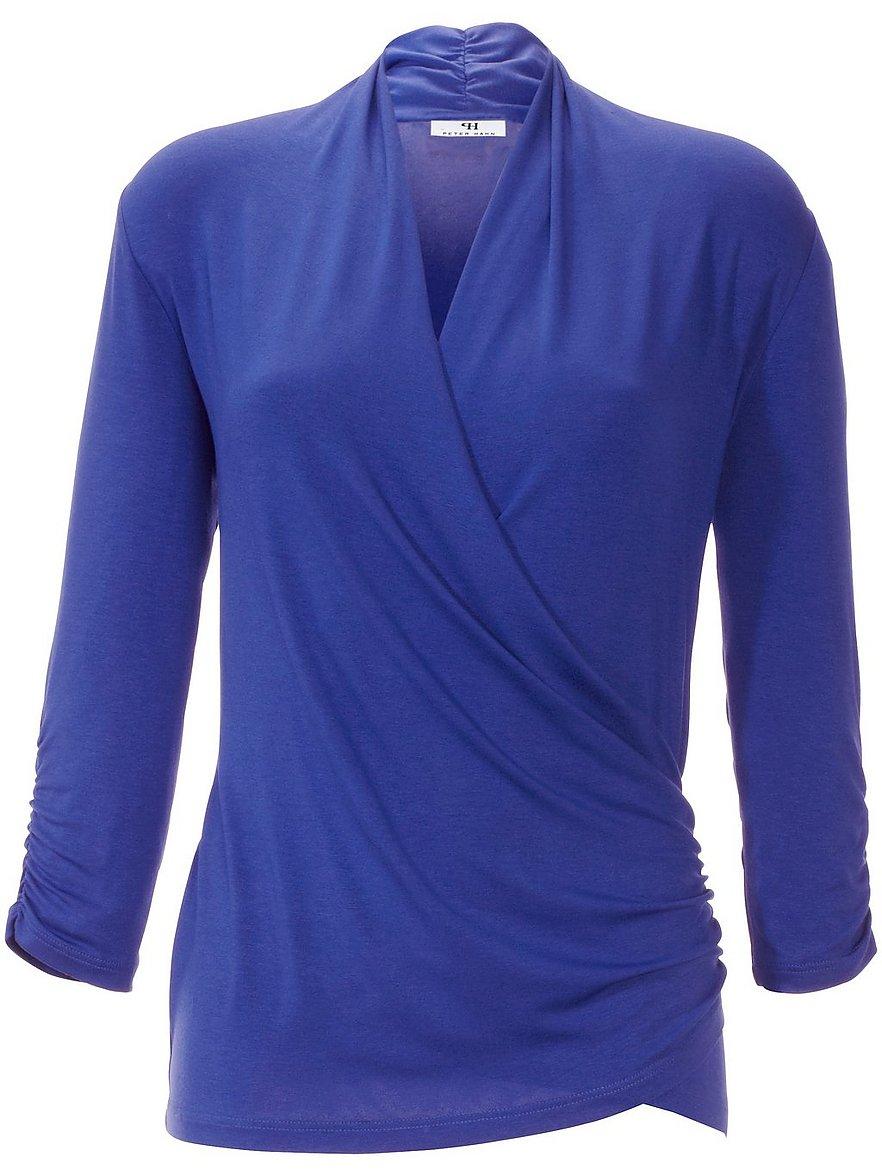 V-Shirt 3/4 Arm Peter Hahn blau Größe: 38 | Bekleidung > Shirts > V-Shirts | Peter Hahn