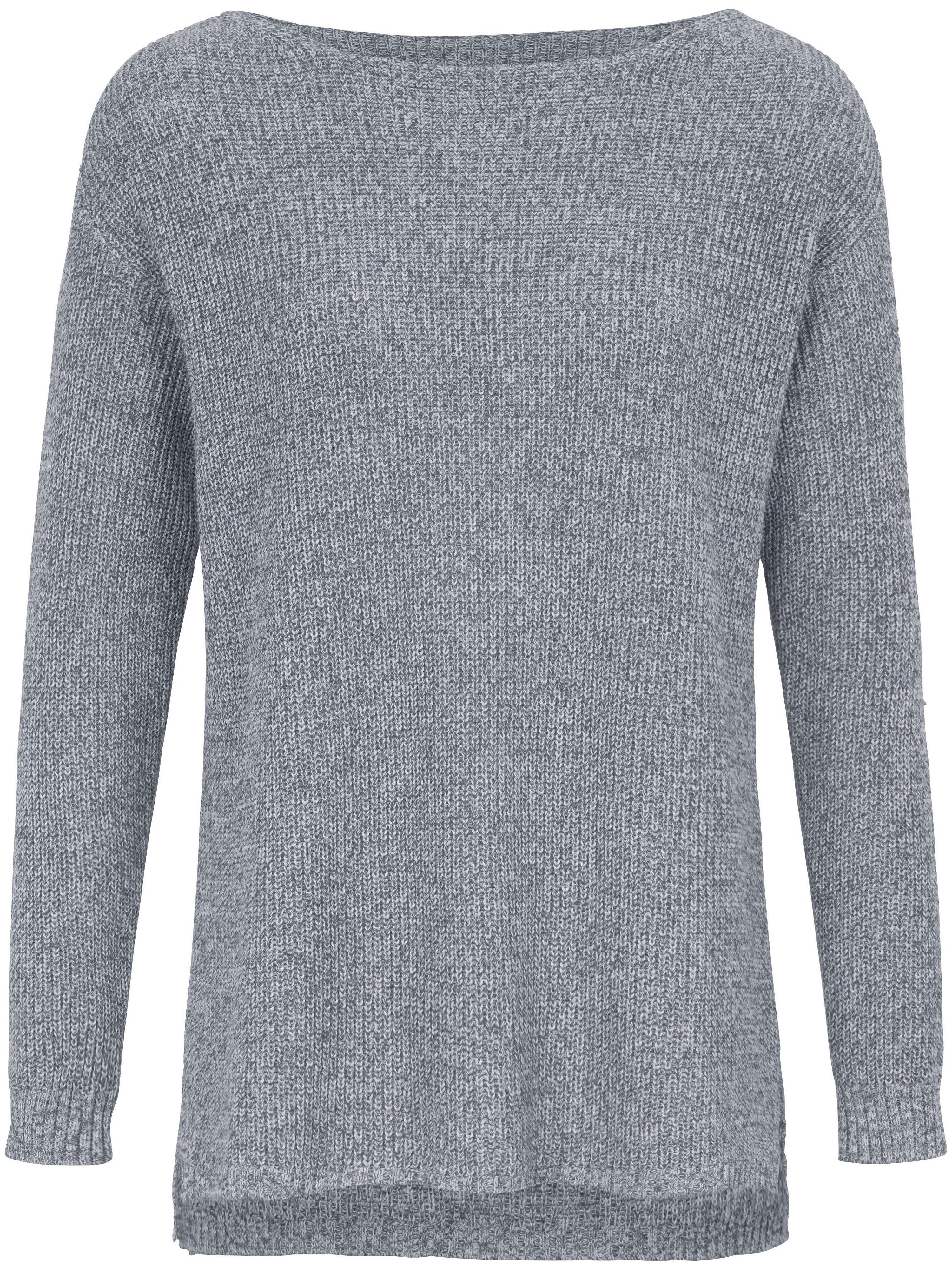 Round neck jumper in 100% SUPIMA® cotton Peter Hahn blue