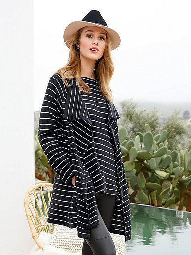 Peter Hahn - Long cardigan in open-fronted style