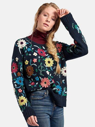 Inkadoro - Round neck jumper with long sleeves