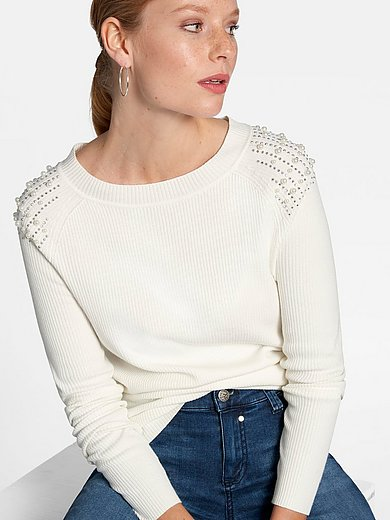 Uta Raasch - Round neck jumper with bead and rhiestones