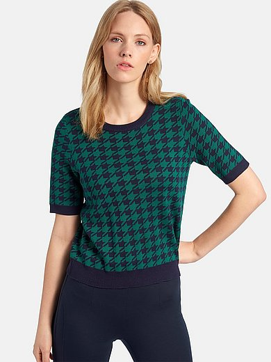 Peter Hahn - Round neck jumper with short sleeves