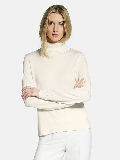 Basler - Roll-neck jumper in new milled wool and silk