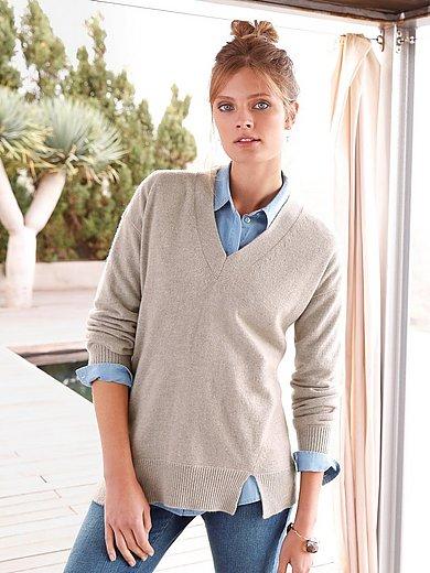 include - V-Pullover aus 100% PREMIUM Kaschmir