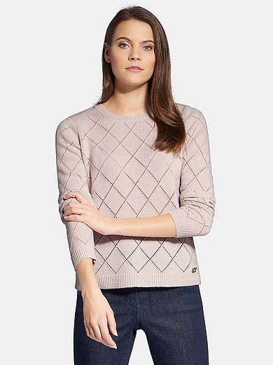 Basler - Round neck jumper in wool and cashmere