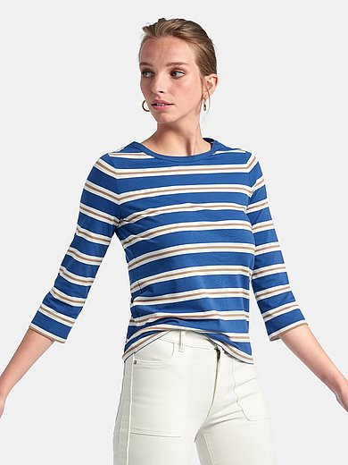 Bogner - Round neck top with 3/4-length sleeves