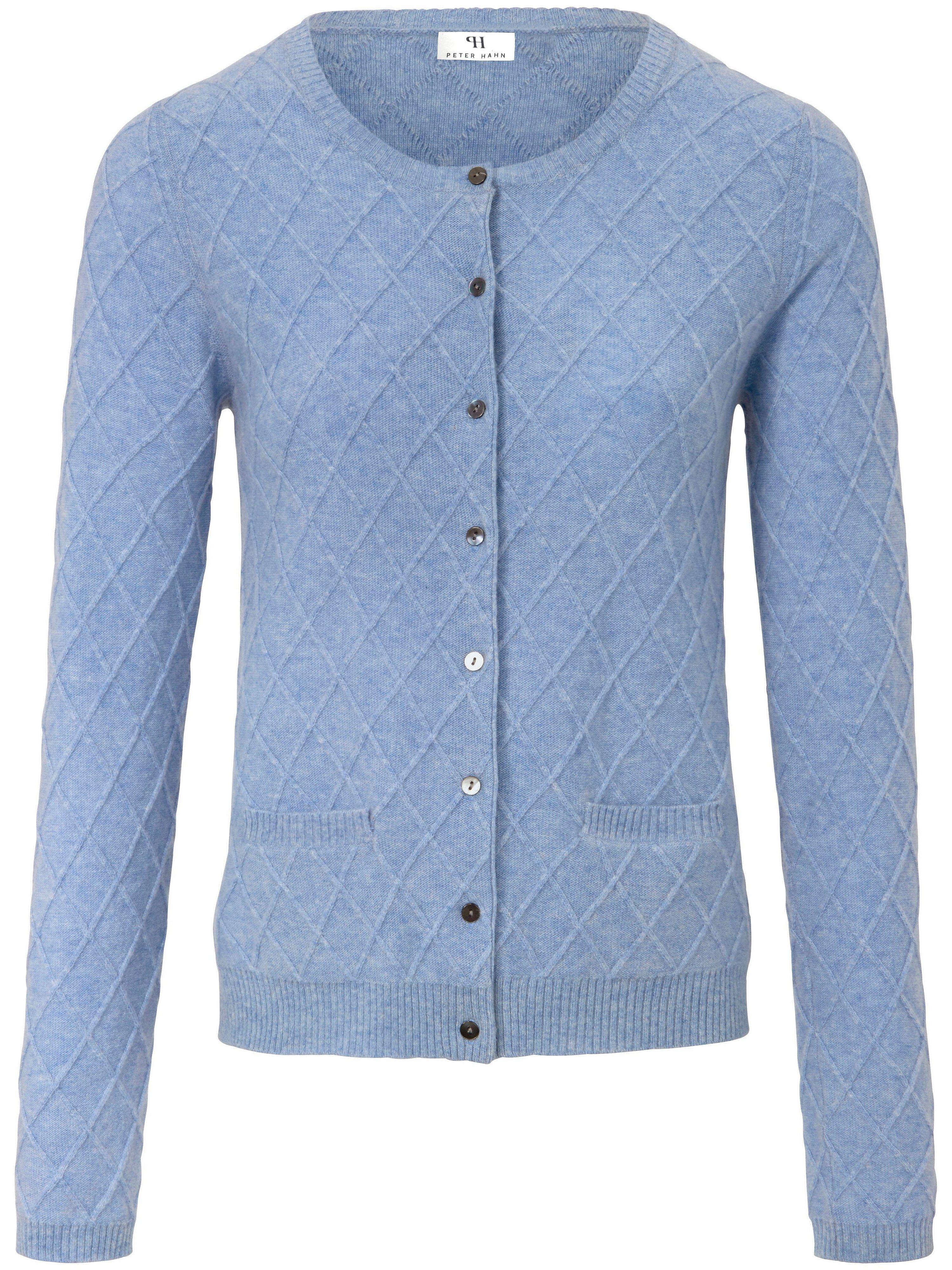 Vest van 100% scheerwol Van Peter Hahn blauw